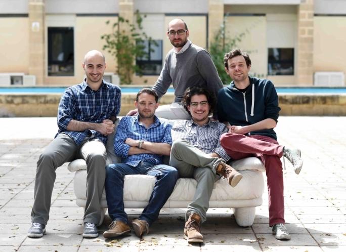 Mighty Box, left to right: Fabrizio Cali, Mark Casha, David Chircop and Thom Cuschieri. Top: Marvin Zammit